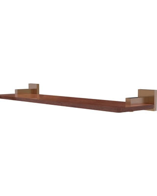 Allied Brass Montero Collection 22 in. Solid IPE Ironwood Shelf in Brushed Bronze