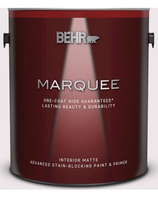 BEHR MARQUEE 1 gal. #PR-W04 Opulent Opal Matte Interior Paint and Primer in One