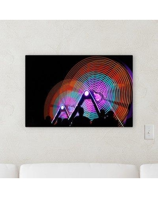 """East Urban Home 'Sharp Colors (194)' Graphic Art Print on Canvas ESHE7505 Size: 10"""" H x 15"""" W x 2"""" D"""