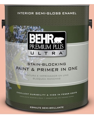 BEHR Premium Plus Ultra 1 gal. Home Decorators Collection #hdc-CT-14A Sunkissed Apricot Semi-Gloss Enamel Interior Paint & Primer