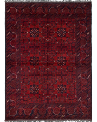 eCarpetGallery Hand-knotted Finest Khal Mohammadi Red Wool Rug - 4'9 x 6'5 (4'9 x 6'5 - Red)