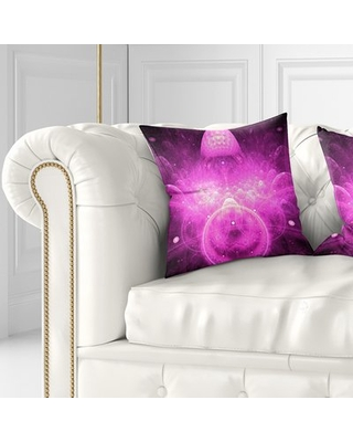 """Floral Infinite Boundaries of World Pillow East Urban Home Size: 18"""" x 18"""", Product Type: Throw Pillow, Color: Purple"""