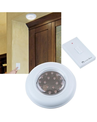 Hastings Home Cordless Ceiling Wall Light with Remote   82-5571