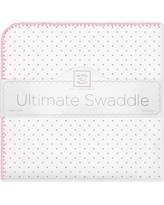 Swaddle Designs Ultimate Receiving Blanket® in Polka Dots SD-001B Color: Bright Pink
