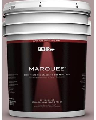 BEHR MARQUEE 5 gal. #110F-4 Heirloom Orchid Flat Exterior Paint and Primer in One