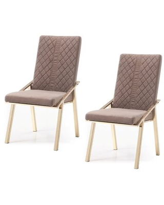 Chudleigh Upholstered Dining Chair Everly Quinn