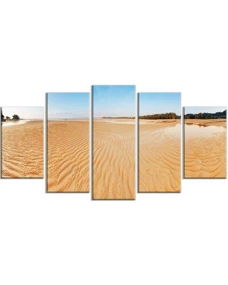 Design Art 'Exotic Tropical Beach Panorama' 5 Piece Photographic Print on Wrapped Canvas Set PT11491-373
