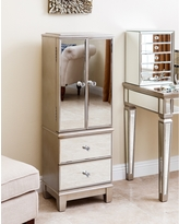 Abbyson Sophie Champagne Gold Mirrored Jewelry Armoire (Silver)