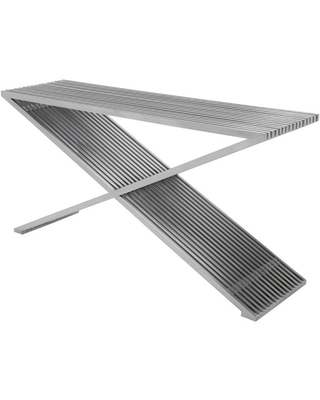 Amici Prague Stainless Metal Console Table