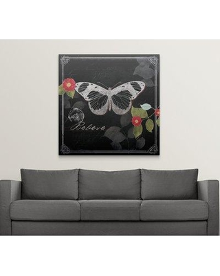 """Great Big Canvas 'Chalkboard Wings II' by Katie Pertiet Graphic Art Print 2174621_1 Size: 48"""" H x 48"""" W x 1.5"""" D Format: Canvas"""