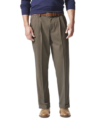 Dockers Relaxed Fit Comfort Khaki Cuffed Pants - Pleated D4, Mens, Size 36x30, Beige