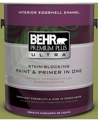 BEHR Premium Plus Ultra 1 gal. #400D-6 Grape Leaves Eggshell Enamel Interior Paint and Primer in One