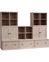 Cameron 3 Cubbies, 2 Cabinets, & 3 Drawer Bases, Heritage Fog, Flat Rate