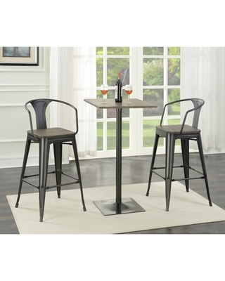 Morena 3 Piece Bar Height Solid Wood Dining Set Williston Forge