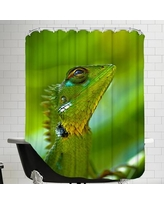 East Urban Home Exotic Tropical Reptile Animal Shower Curtain ESRB1269