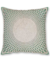 India's Heritage Aurora Linen Throw Pillow C962 / C964 Color: Turquoise
