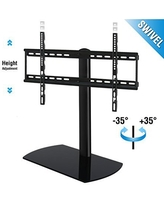 FITUEYES Universal Tabletop TV Stand Base with Swivel Mount for 32 45 50 55 60 inch LED LCD Flat screen TVs TT107002GB