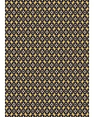 East Urban Home Patterned 1311 Brown Area Rug W002476843 Rug Size: Rectangle 4' x 6'