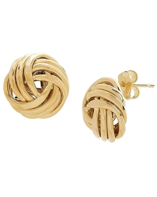 Love Knot Stud Earrings in 10K Gold - Yellow (Yellow - Yellow)