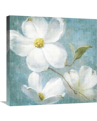 "East Urban Home 'Indiness Blossom Square Vintage IV' Print ESUM7238 Size: 17.63"" H x 17.63"" W Format: Wrapped Canvas"