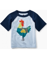 Tea Collection Rooster Graphic Baby Raglan Tee