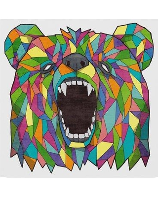 """East Urban Home 'Grizzly Multi Color' Graphic Art Print on Wrapped Canvas EBHV4345 Size: 35"""" H x 35"""" W x 2"""" D"""