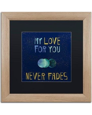 "East Urban Home 'Love' Framed Textual Art EBHV6881 Matte Color: Black Size: 16"" H x 16"" W x 0.5"" D"