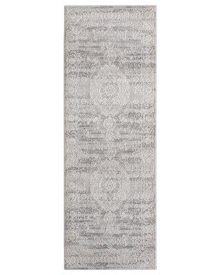 "Canora Grey Bryker Woods Gray Area Rug W000963858 Rug Size: Rectangle 1'11"" x 3'"