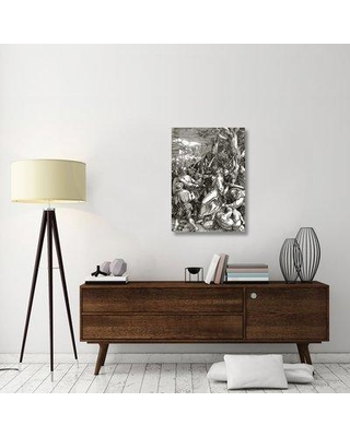 """East Urban Home 'The Great Passion 10' Graphic Art Print on Canvas ESUH3051 Size: 36"""" H x 25"""" W x 1.5"""" D"""