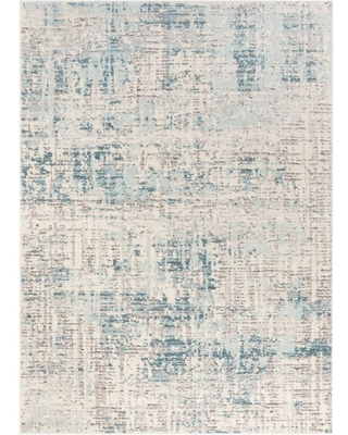 Big Deal On Well Woven Sydney Tate Blue Modern Abstract Distressed 7 Ft 10 In X 9 Ft 10 In Area Rug