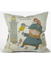 """East Urban Home Smitti Was A Pirate Polyester Throw Pillow EHME5708 Size: 18"""" H x 18"""" W x 5"""" D"""