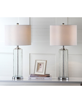 Safavieh Indoor Table Lamps White - Sienna Table Lamp - Set of Two