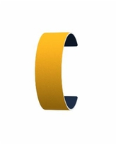 Les Georgettes by Altesse Reversible Wide 25mm, 1in Leather Band Insert - Yellow/Navy