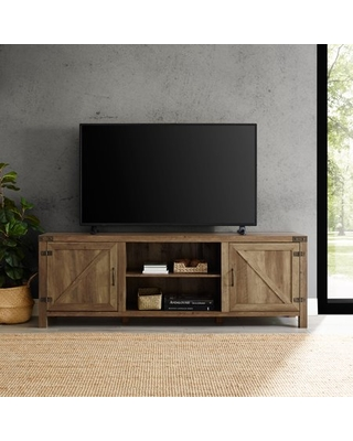 """Manor Park Farmhouse TV Stand for TVs up to 80"""", Reclaimed Barnwood:"""