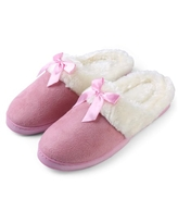 Aerusi Edit Bow Scuff Slip-on Indoor Slippers