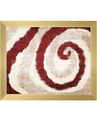 """Click Wall Art 'Down the Rabbit Hole - Red' Framed Graphic Art CBS0000427FR Size: 22.5"""" H x 26.5"""" W"""