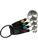 Oxo Stainless Steel Measuring Spoons, Black/Stainless