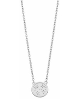 """""""R LIM Sterling Silver Stars Cubic Zirconia Pendant Necklace, Women's, Size: 18"""", White"""""""