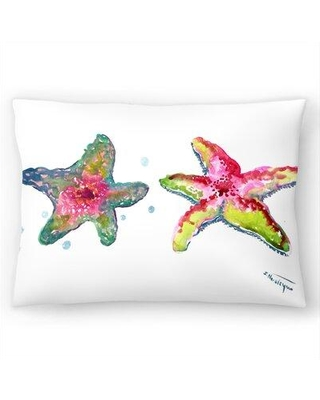 """East Urban Home Starfish Colorful Lumbar Pillow EBIC7426 Size: 14"""" H x 20"""" W"""