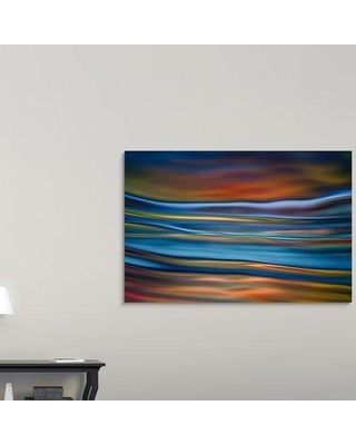 "Ebern Designs 'Incoming Tide' Graphic Art Print on Canvas W000549135 Size: 40"" H x 60"" W x 1.5"" D"