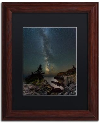 """Trademark Fine Art 'Over the Chasm' Framed Photographic Print on Canvas ALI3804-W1 Size: 14"""" H x 11"""" W x 0.5"""" D Matte Color: Black"""