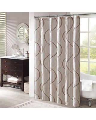 """Madison Park Serendipity 72x72"""" Shower Curtain in Ivory - Olliix MP70-1915"""