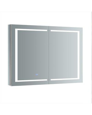 """Fresca Spazio Recessed or Surface Mount Frameless Medicine Cabinet with 3 Adjustable Shelves and LED Lighting FMC024830 / FMC024836 Size: 36"""" H x 48"""" W x 5"""" D"""