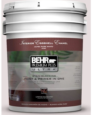 BEHR Premium Plus Ultra 5 gal. #100E-1 Coquette Eggshell Enamel Interior Paint and Primer in One