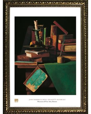 Buy Art For Less Museum Masters 'Student's Materials' by John Frederick Peto Framed Painting Print IF MFA24G