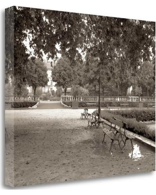 "Tangletown Fine Art 'Banc de Jardin - 41' Photographic Print on Wrapped Canvas ICABFRC141-2218c Size: 21"" H x 26"" W"