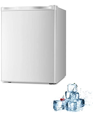 Electactic Mini Chest Freezer Countertop 2.1 Cu.ft Small Freezer Upright Compact Upright Freezer with Reversible Single Door,Removable Shelves Free Standing White
