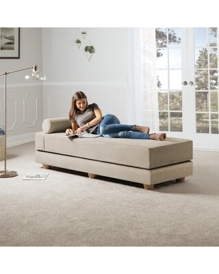 Jaxx Artemis Daybed Queen Size Convertible Sleeper (Ivory - Polyester)