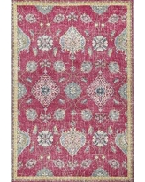 "Bungalow Rose Griffey Pink Area Rug CHST9737 Rug Size: Rectangle 5'3"" x 7'7"""