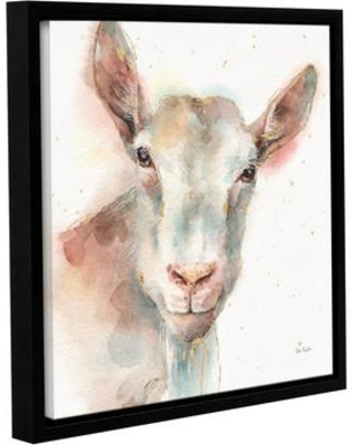 "Laurel Foundry Modern Farmhouse Farm Friends I Framed Painting Print on Wrapped Canvas LRFY3683 Size: 14"" H x 14"" W x 2"" D"